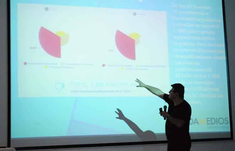 César Ricaurte durante la presentación del estudio.