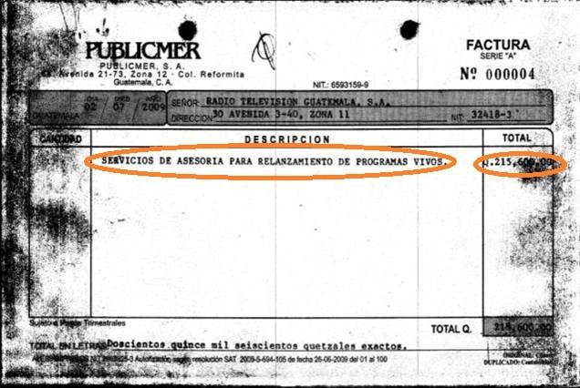 Factura Publicmer-RTVGuatemala 2